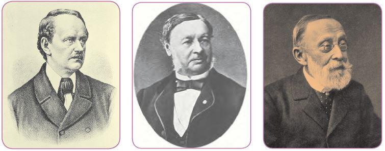 Matthias Schleiden - Theodor Schwann - Rudolf Wirchow