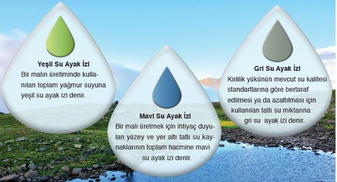 Su ayak izi bileşenleri