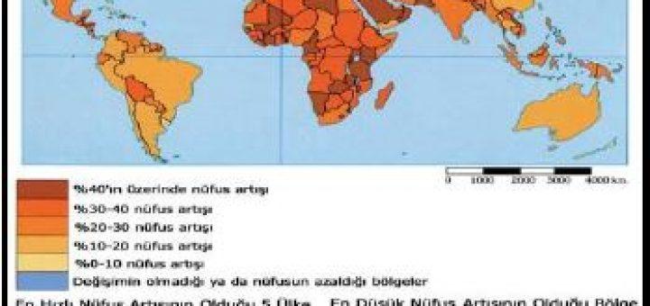 İnsan popülasyonunun dünya üzerindeki büyüme hızı dağılımı